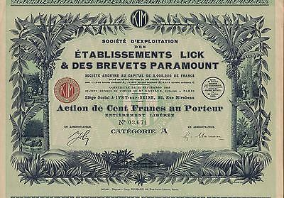 FRANCE  RUBBER EXPLORATION COMPANY stock certificate 1925
