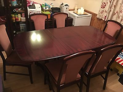 McIntosh Mahogany Dining Table and Six Dining Chairs
