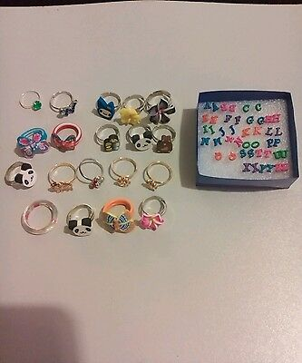 Job lot of childrens rings and earrings