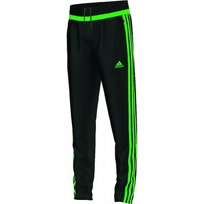 Adidas Kids' TIRO 15 TRAINING PANTS Black/Solar Lime AP0336 a
