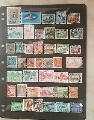 stamps old peru used - lot 8