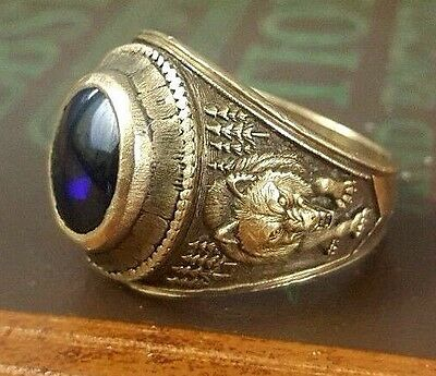 Vintage 10K Gold Class Ring College School 16 Grams Size 13