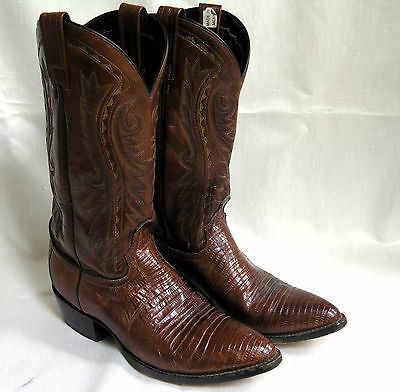 Dan Post Cowboy Boots Leather: Alligator Size: 9 1/2 D Very Good Condition