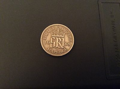 1948 - Sixpence - Great Britain - King George VI Good Condition