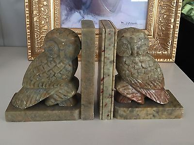 "5"" Marble Stone Owl Bookends"