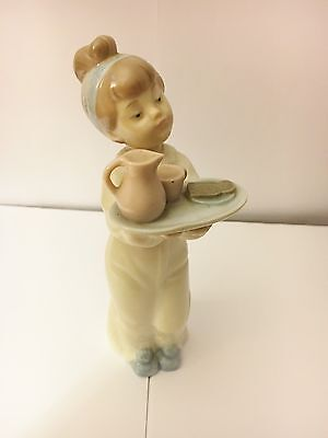 Nao 'Girl with Tea' Porcelain Figurine