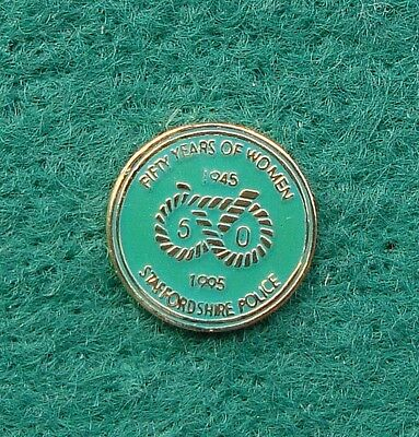 Staffordshire Police 50 YEARS OF WOMEN tie tac pin badge
