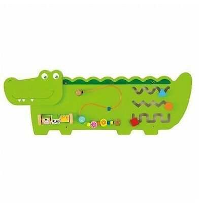 Large Viga Wooden Crocodile Wall Fine Motor Activity Center