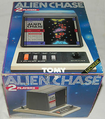 **vintage 1984 Alien Chase 2 Screens Lsi Tabletop Vfd Tandy Game In Box/boxed**