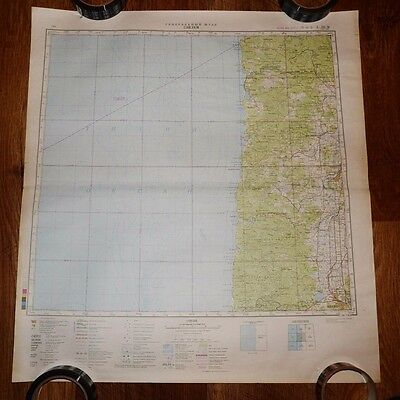 Authentic Soviet USSR Army Military Topographic Map Salem, Oregon, USA #74