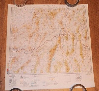 Authentic Soviet USSR Army Military Topographic Map Elko, Nevada, USA #7