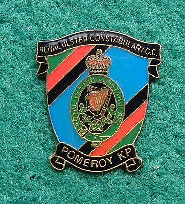 RUC Royal Ulster Constabulary Police POMEROY tie tac pin badge