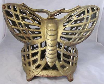 Vintage Outdoor Cast Iron Butterfly 8 1/4 X 11 Candle Yard Light 714-1289F