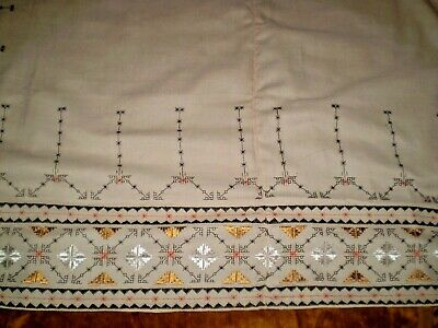 Vintage Hand-Embroidered Tablecloth