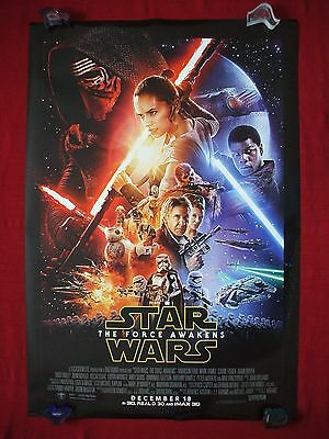 Star Wars The Force Awakens * 2015 Original Movie Poster D/s Authentic Adv. Nm-M