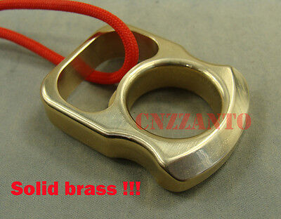 Solid brass Pocket EDC survival escape tool Knuckle bottle opener with lanyard