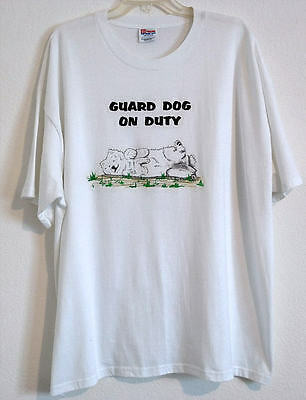 Samoyed Guard Dog On Duty Night-T Shirt Sz Xxl Nwot