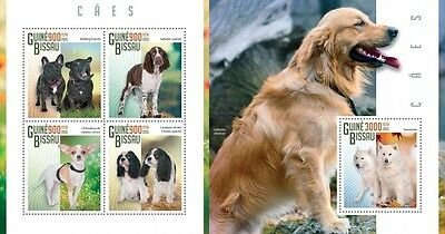 Z08 IMPERFORATED GB15110ab GUINEA-BISSAU 2015 Dogs MNH ** Postfrisch Set