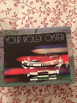 Rolex Your Rolex Oyster Booklet Opuscolo Istruzioni  1980