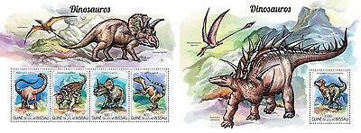 Z08 IMPERFORATED GB15210ab GUINEA-BISSAU 2015 Dinosaurs MNH ** Postfrisch Set