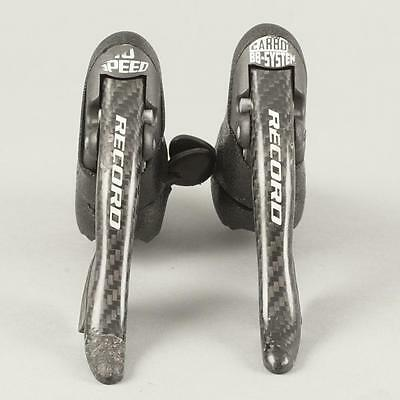 Used Campagnolo Record Shifters Carbon Fiber 10 Speed Carbon BB-System Levers
