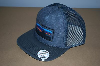 Brand New Patagonia Fitz Roy Banner Interstate Trucker Hat Forge Grey Snapback
