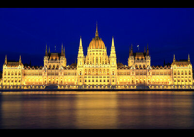 Hungary Giclee Canvas Picture Poster Art Houses of Parliament Budapest