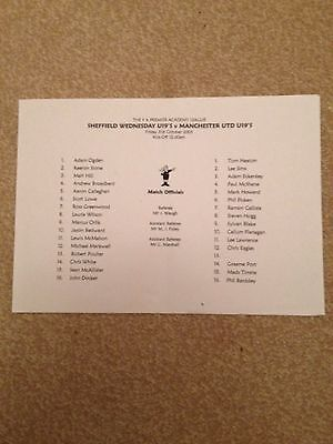 Sheffield Wednesday U19 v Manchester United U19 B&W version 31/10/2003