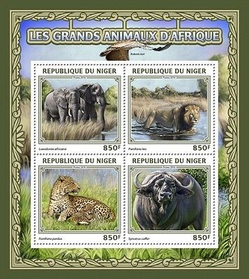 Z08 IMPERFORATED NIG16501a NIGER 2016 Big African animals MNH ** Postfrisch