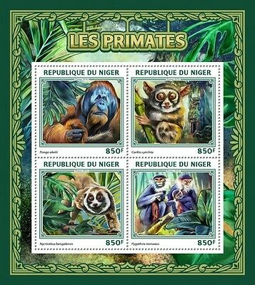 Z08 IMPERFORATED NIG16504a NIGER 2016 Primates MNH ** Postfrisch