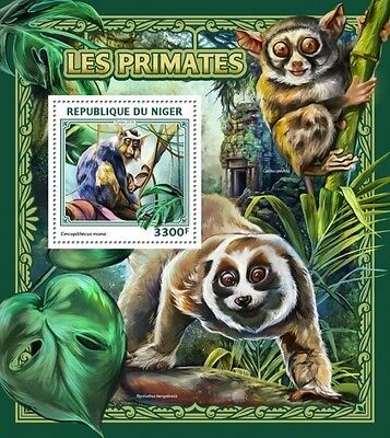 Z08 IMPERFORATED NIG16504b NIGER 2016 Primates MNH ** Postfrisch