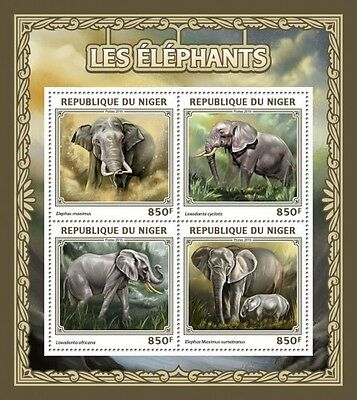 Z08 IMPERFORATED NIG16505a NIGER 2016 Elephants MNH ** Postfrisch