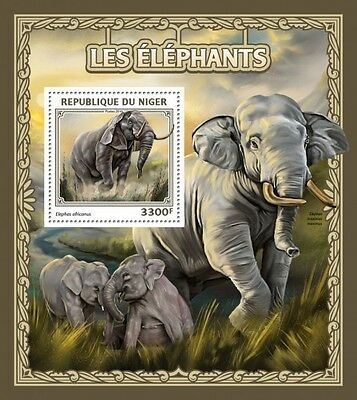 Z08 IMPERFORATED NIG16505b NIGER 2016 Elephants MNH ** Postfrisch