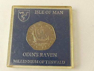 (ref165CQ) Isle of Man Odins Raven 50p Coin