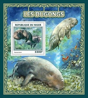 Z08 IMPERFORATED NIG16510b NIGER 2016 Dugongs MNH ** Postfrisch