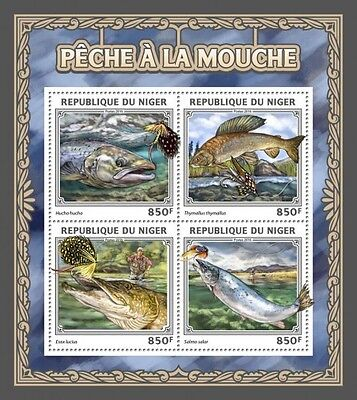 Z08 IMPERFORATED NIG16511a NIGER 2016 Fly fishing MNH ** Postfrisch