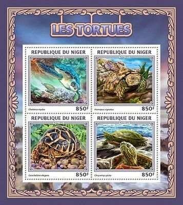 Z08 IMPERFORATED NIG16512a NIGER 2016 Turtles MNH ** Postfrisch