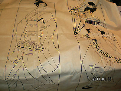 3 GEISHA BEAUTIFUL LADIES TO APPLIQUE PANEL - STUNNING sewing - SEWING QUILTING