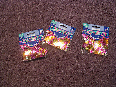 EMBOSSED CONFETTI (3) - Girl Power - Birthday Party - Girl's Night Out - Crafts