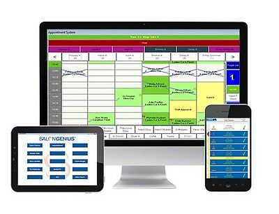 SALONGENIUS booking system, Touchscreen PC, Printer, Product Scanner bundle