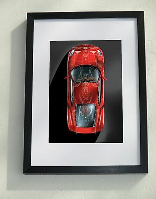 Framed/mounted photo: Ferrari F430 overlaid with a drawing of a Formula 1 car