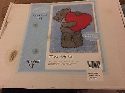 Me To You Bear New Latch Hook Heart Rug Kit