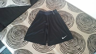 Pre-Owned Boy's/youth Black Nike Dri Fit Athletic Shorts Size Large