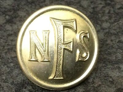 WWII National Fire Service Button, Gaunt London
