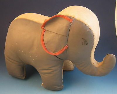 Vintage Stuffed Toy Oil Cloth Elephant