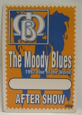 The Moody Blues - Original Cloth Concert Tour Backstage Pass