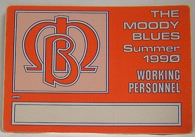 The Moody Blues - Original Cloth Concert Tour Backstage Pass ***last One***