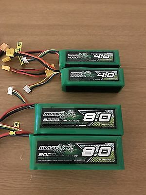 RC Multistar High Capacity 4S 14.8V 8000 mAh 10C Discharge LiPo Pack