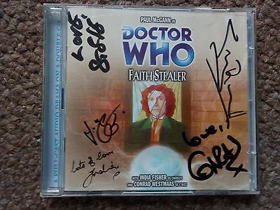 Dr Who Cd Big Finish Faith Stealer Signed India Fisher Conrad Westmaas & 3 Other