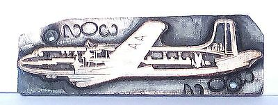 Vintage letterpress Printing Plate - An American Airlines Plane Copper Graphic